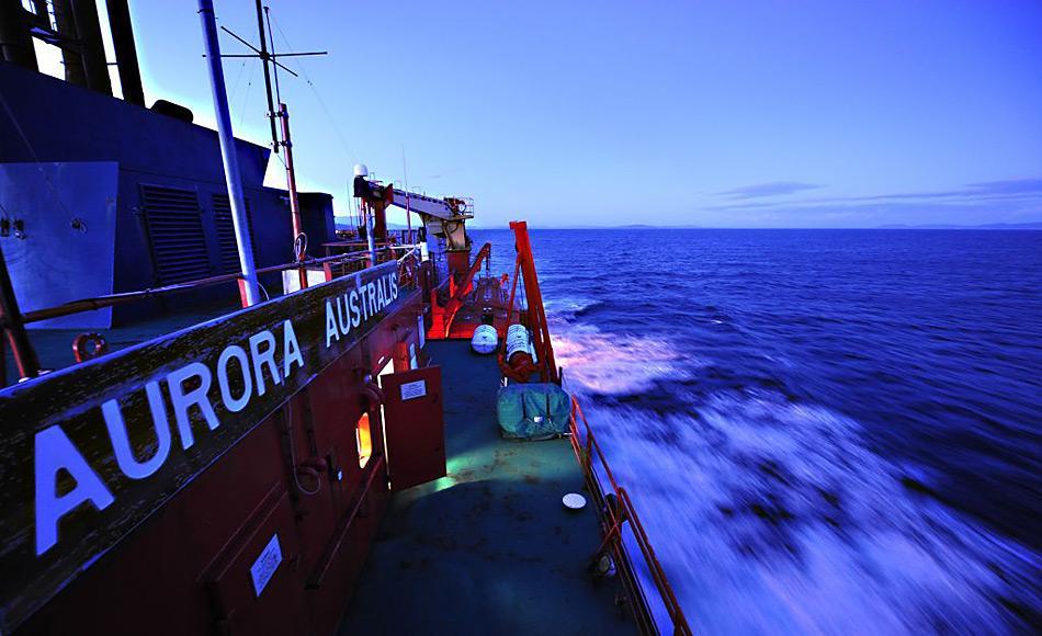 Ein Team von 44 Wissenschaftlern und Hilfskräften werden die nächsten 8 Wochen an Bord des australischen Eisbrechers verbringen und die Kerguelen-Achse im Südpolarmeer untersuchen. Foto: Jessica Fitzpatrick
