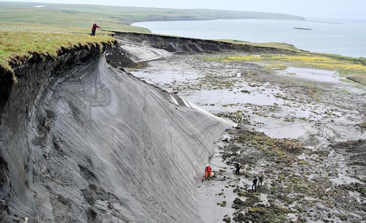 In der kanadischen Arktis wurde auf Herschel Island der Rückgang der Küstengebiete in einem