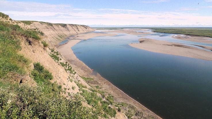 Die Region im Norden von Alaska entlang des Colville Flusses ist heute eine arktische